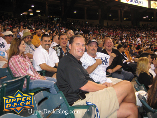Upper Deck Diamond Club members take in the Angels/Yankees game Friday night. The Angels came from behind to defeat the Yankees 10-6, but one Diamond Club member still showed his support for his beloved Yankees by showing off his Jeter jersey.