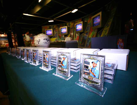 DISPLAY CITY: Upper Deck set the cards up nicely for Friday night's handoff.