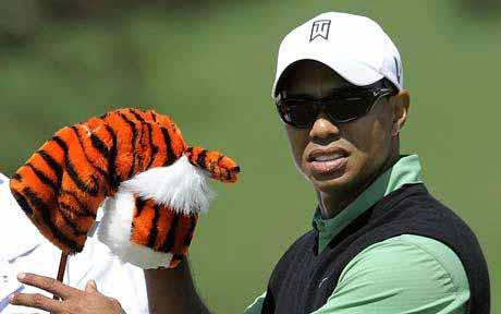 Tiger during Round 2 action at Augusta on Friday.