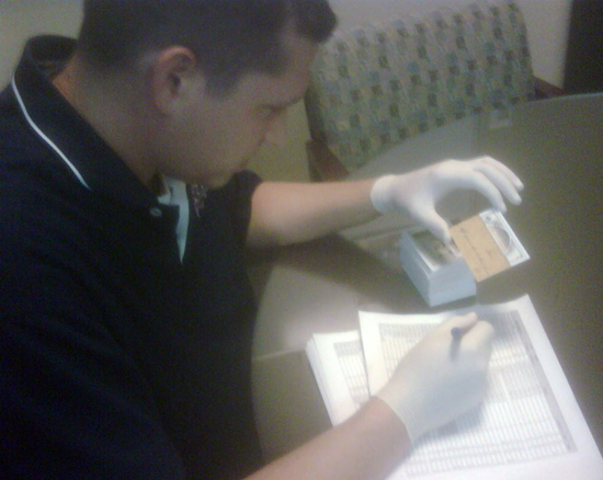 Upper Deck senior staff inspect each card by hand to make sure th