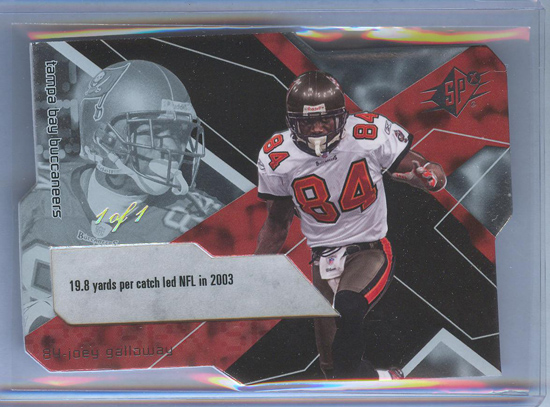 Joey Galloway 1-of-1 SPx Card