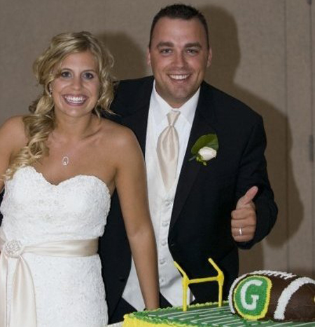 Jeff and Allison Congrats on your cool wedding cake and for walking away