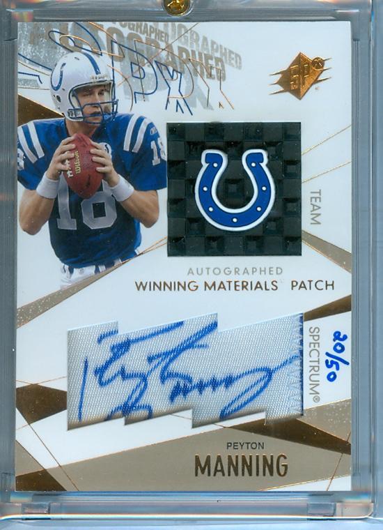 Peyton Manning Upper Deck SPx Card