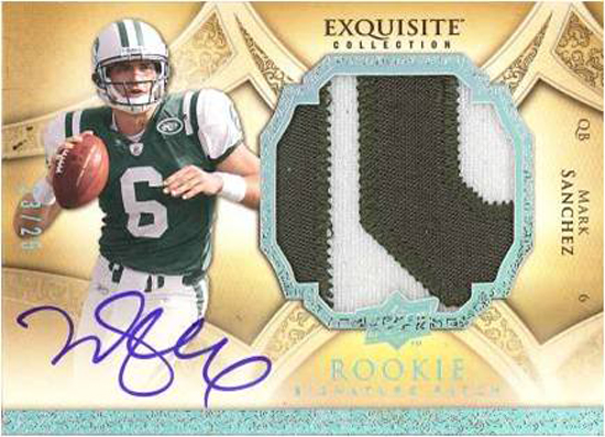 Mark Sanchez Exquisite Patch Autographed Card