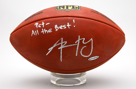Upper Deck's Second-Place Prize: Aaron Rodgers Signed Football