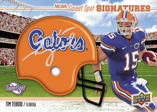 Tim Tebow 2010 Sweet Spot Helmet Card