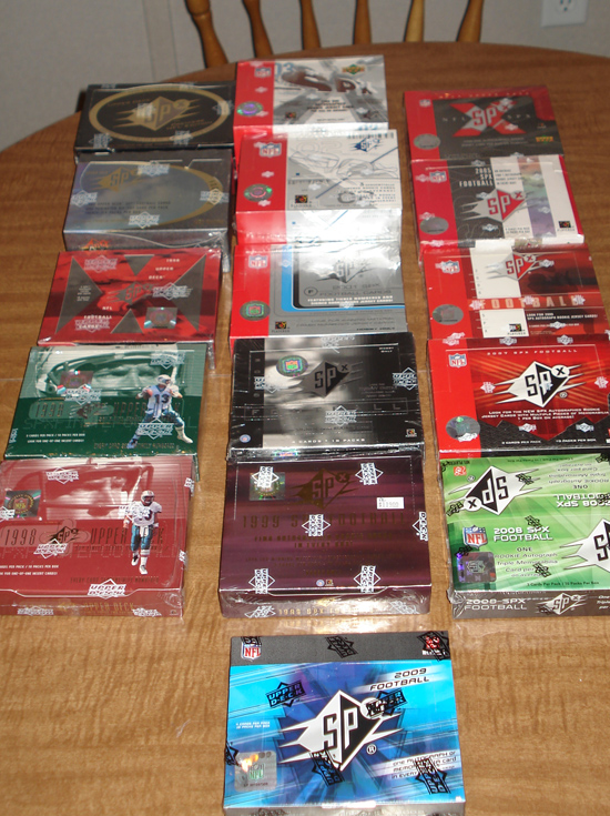 Upper Deck SPx Football Boxes
