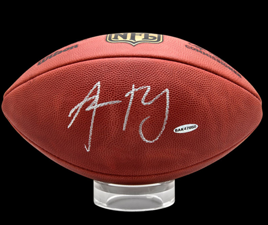 Aaron Rodgers Autographed UDA Football