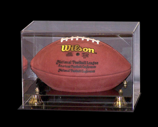 Coach's Choice Gold Risers Football Display Case