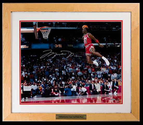 Michael Jordan Signed Slam Dunk 16 x 20 Photo
