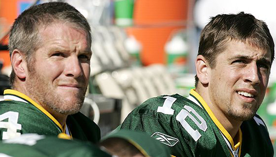 Brett Favre and Aaron Rodgers Hanging Out