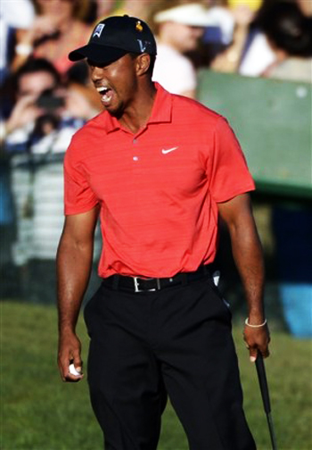 Brag Photo  What Happened to Tiger Woods  Tournament Worn Shirt ... 2449a3400c9