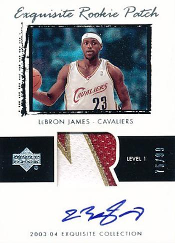 Miami Heat LeBron James Exquisite Rookie Card