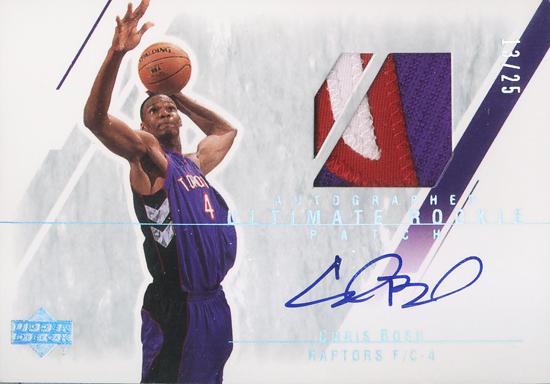 Miami Heat Chris Bosh Autographed Rookie Patch