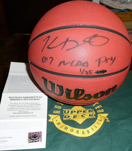 Durant signed basketball