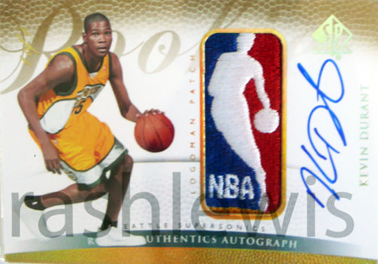 Kevin Durant Autograph Logoman card
