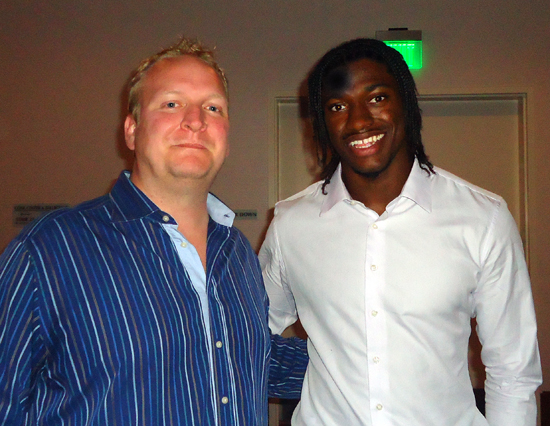 RG3 couldn't have been more nice. I hope he has a great year in
