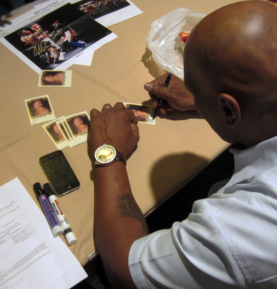 Mike Tyson Signs Trading Cards