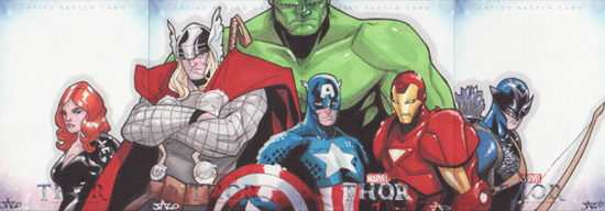 Sketch card Thor Jose Jaro