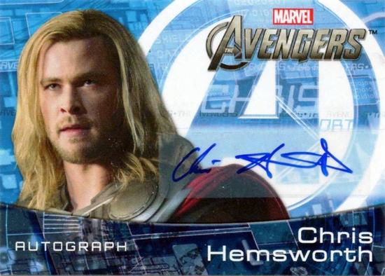 UDE Avengers Hemsworth autograph card