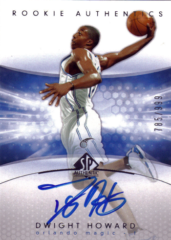 SP Authentic Dwight Howard Rookie Card