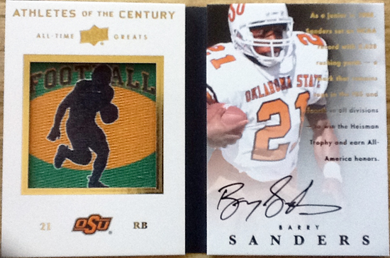 2012 Upper Deck All Time Greats Barry Sanders Booklet Card