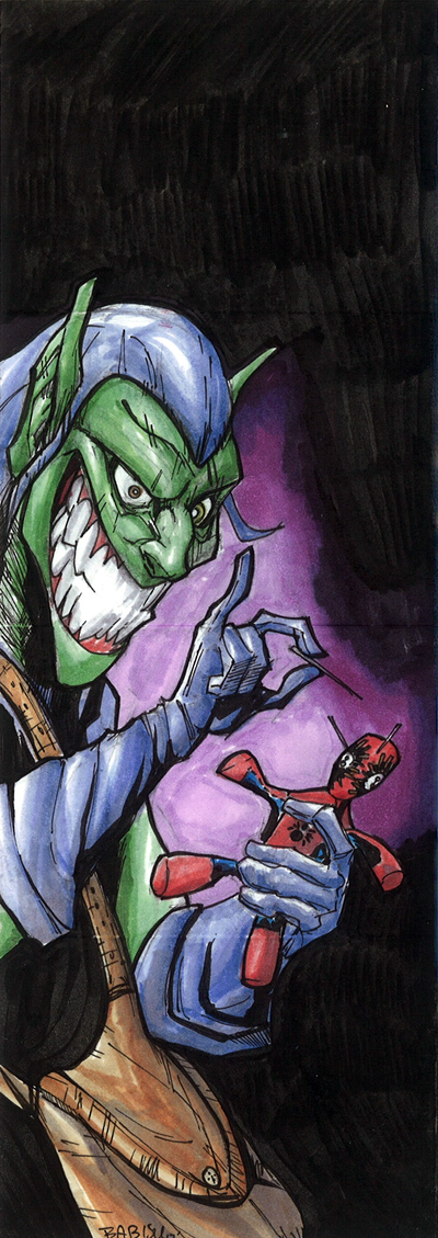 2012-Upper-Deck-Marvel-Premier-Multi-Panel-Sketch-Cards-Babisu-Kourtis-Green-Goblin-Inside