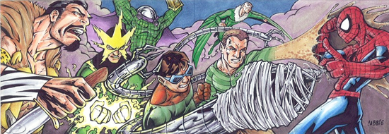 2012-Upper-Deck-Marvel-Premier-Multi-Panel-Sketch-Cards-Chris-Bradberry-Sinister-Six-Spiderman-Inside
