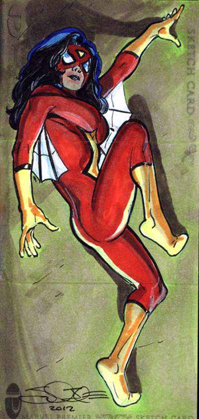 2012-Upper-Deck-Marvel-Premier-Multi-Panel-Sketch-Cards-Jamal-Igle-Spiderwoman-Inside