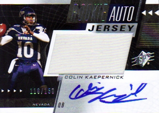 2011-Upper-Deck-Football-SPx-Colin-Kaepernick-Rookie-Autograph-Jersey