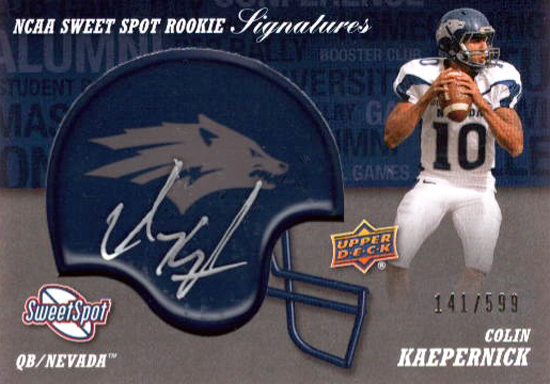 2011-Upper-Deck-Football-Sweet-Spot-Autograph-Rookie-Colin-Kaepernick