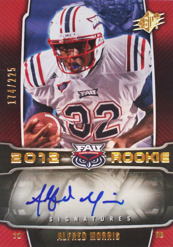 2012-Collectors-Choice-Awards-Autograph-Card-Year-SPx-Alfred-Morris-Autograph