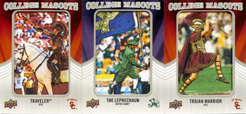 2012-Upper-Deck-Football-Mascot-Patch-Cards-Rivalry-USC-Vs-Notre-Dame