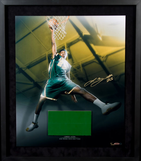 Gift-Guide-LeBron-James-UDA-Autograph-Signed-High-School-Floor-Photo