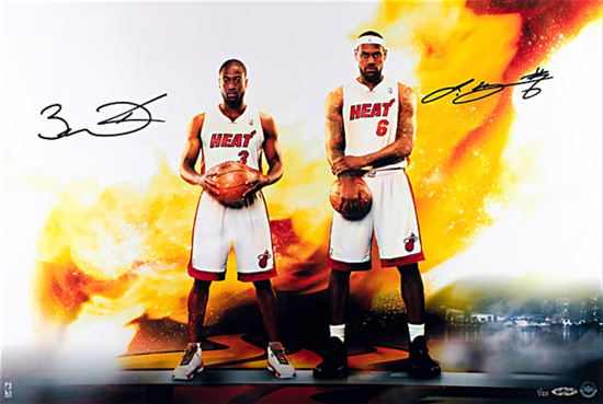 Gift-Guide-LeBron-James-UDA-Autograph-Signed-Miami-Heat-Dwyane-Wade-Dual-Next-Level