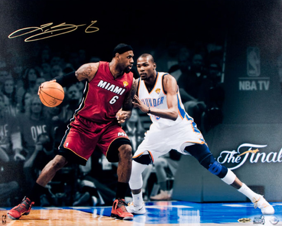 Gift-Guide-LeBron-James-UDA-Autograph-Signed-Miami-Heat-Kevin-Durant-Finals