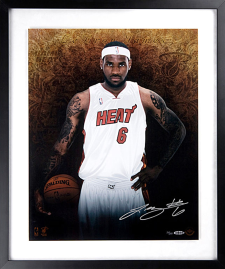 Gift-Guide-LeBron-James-UDA-Autograph-Signed-Miami-Heat-Welcome-Framed