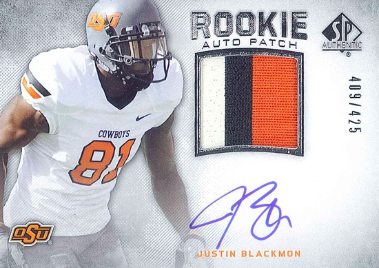 2012-SP-Authentic-Football-Autograph-Rookie-Patch-Justin-Blackmon