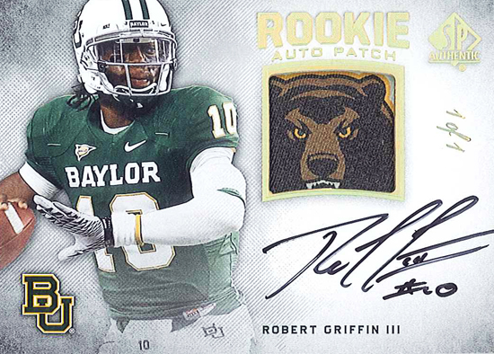 2012-SP-Authentic-Football-Rookie-Autograph-1-of-1-Patch-Robert-Griffin-III-RG3