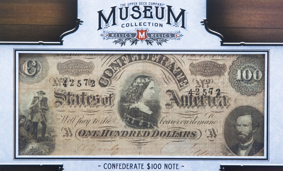 2012-Upper-Deck-Goodwin-Champions-Civil-War-Confederate-100-Note-Bill