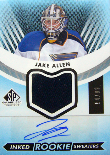 2012-13-NHL-SP-Game-Used-Jake-Allen-Inked-Rookie-Sweaters