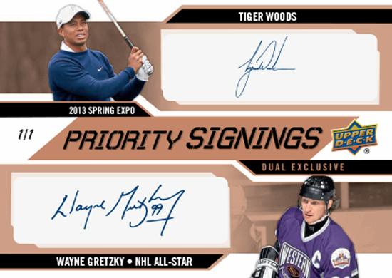 2013-Upper-Deck-Spring-NHL-Expo-Priority-Signings-Exclusive-Duals-Tiger-Woods-Wayne-Gretzky-Autograph