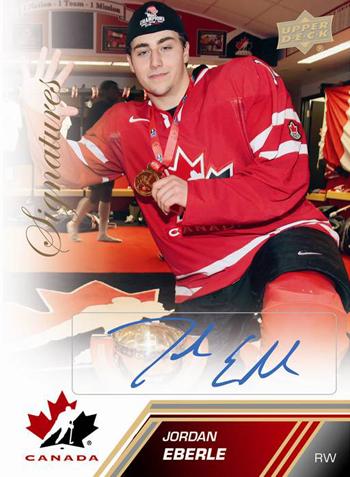 2013-Upper-Deck-Team-Canada-Hockey-Base-Signatures-Gold-Jordan-Eberle