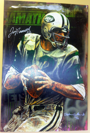 Deck-The-Halls-Joe-Namath-Stephen-Holland-Autograph-Art-Piece-Upper-Deck