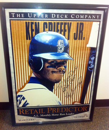 Deck-The-Halls-Upper-Deck-Ken-Griffey-Jr-Autograph-Personalized-Poster