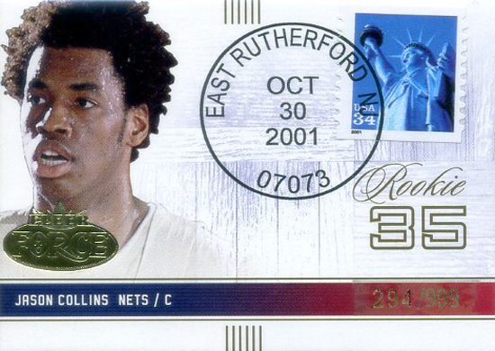 First-Gay-Athlete-Jason-Collins-2001-02-Fleer-Force-Rookie-Stamp-Card