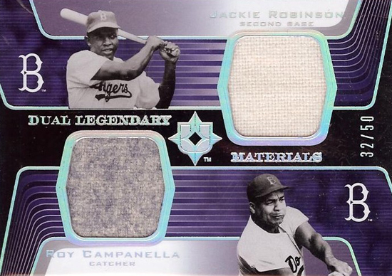 Jackie-Robinson-2004-Upper-Deck-Ultimate-Collection-Roy-Campanella-Dual-Materials-Card