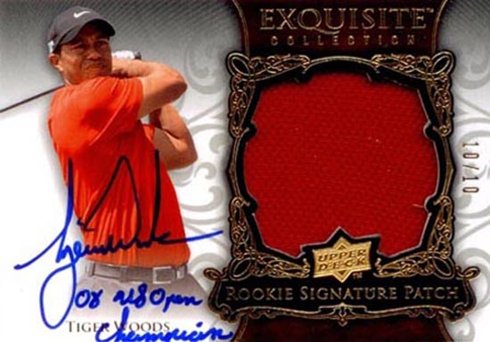 Masters-Favorites-Tiger-Woods-Exquisite-Collection-Rookie-Patch