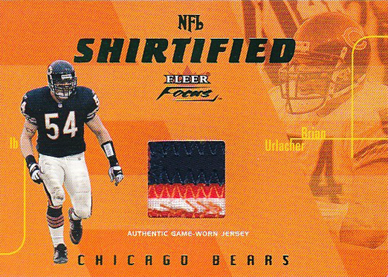 2003-Fleer-Focus-Shirtified-Brian-Urlacher-Patch-Card