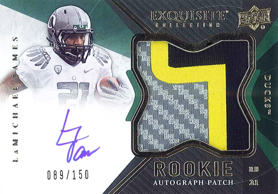 2012-New-Exquisite-Collection-Rookie-Autograph-Patch-LaMichael-James